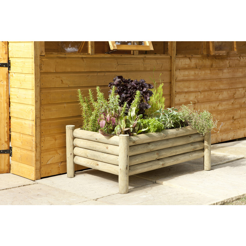 Forest Garden Raised Log Planter