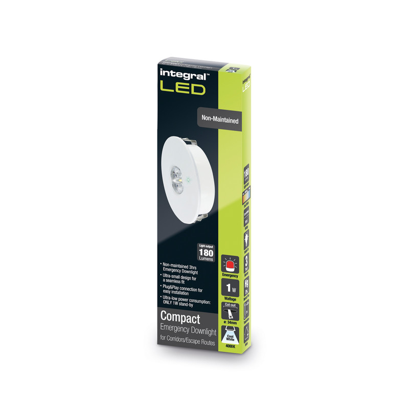 Integral LED IP20 Compact Emergency Downlight