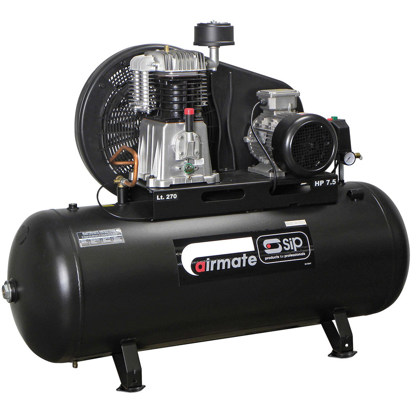SIP 06585 Oil Lubricated Belt Drive 270L 7.5HP 3 Phase Compressor