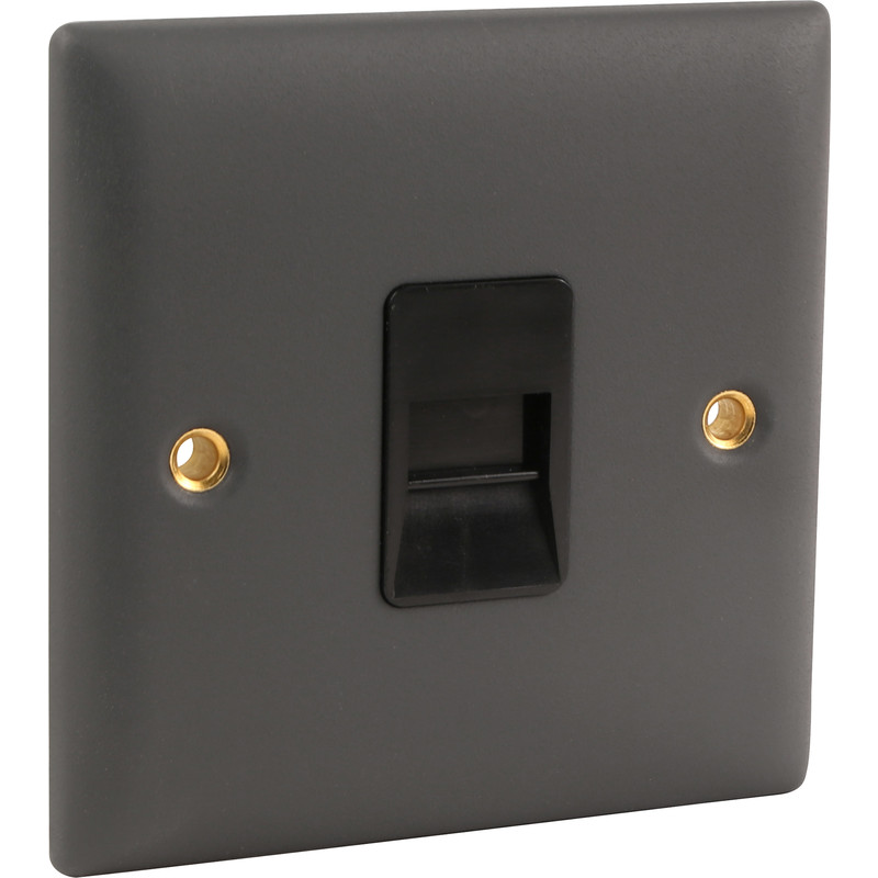 Power Pro Anthracite Telephone Socket