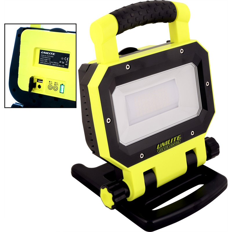 Unilite Slr 3000 Led Rechargeable Work Light 30w 3000lm