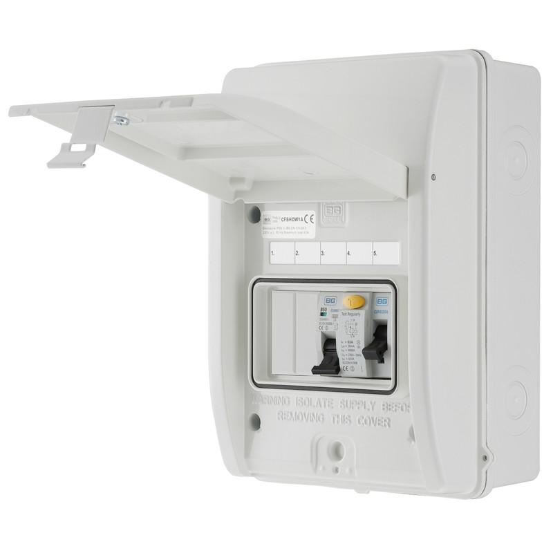 BG Metal Shower Consumer Unit IP65