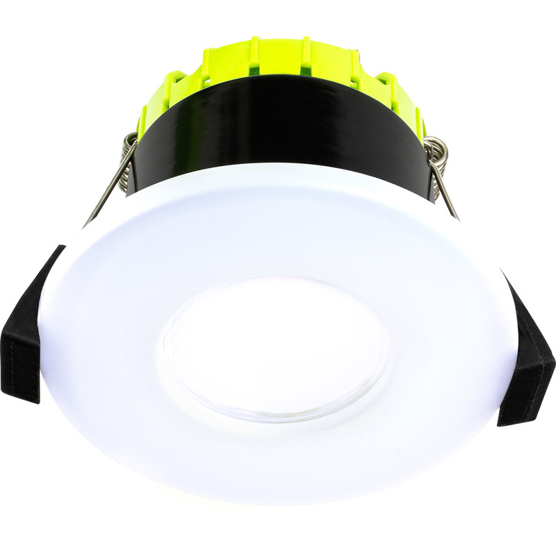 Luceco FType Compact Flat Integrated Dimmable 6W Fire Rated IP65 Downlight