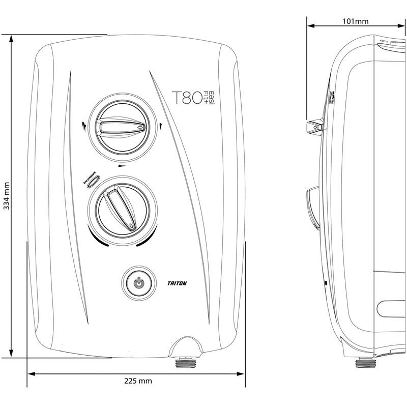 Triton T80 EasiFit + Electric Shower