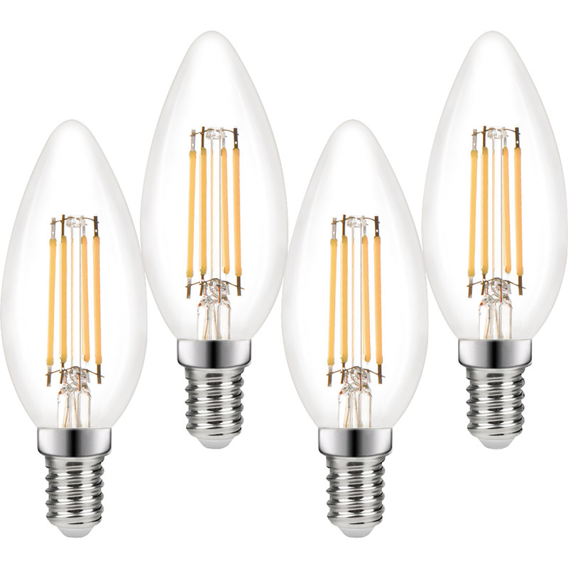 Wessex LED Filament Dimmable Candle Bulb Lamp