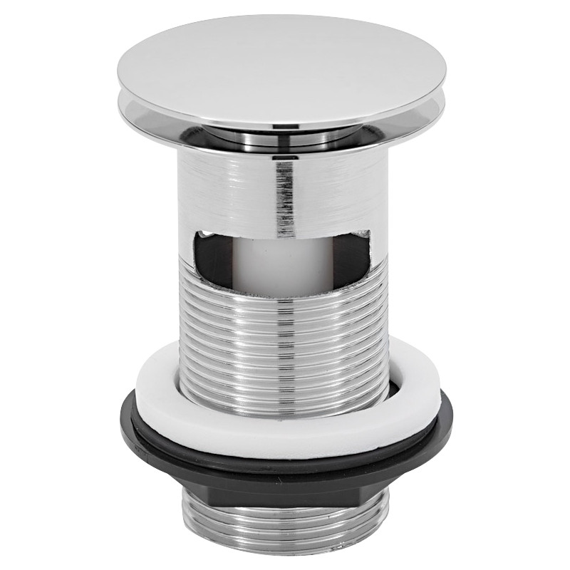 "Click-clac 1 1/4"" Chrome Plated Brass Basin Plug"