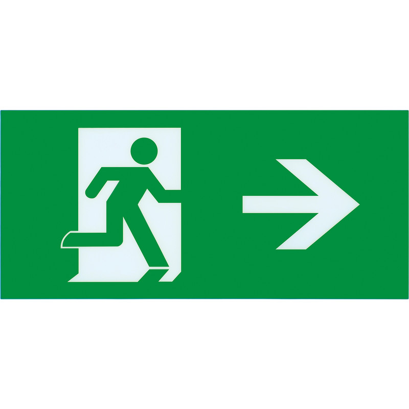 Integral LED Slimline IP20 LED Emergency Exit Sign Box