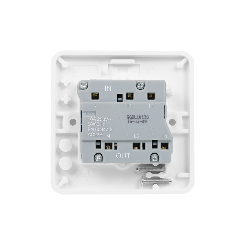 Schneider Electric Lisse Fan Isolator 10A Switch