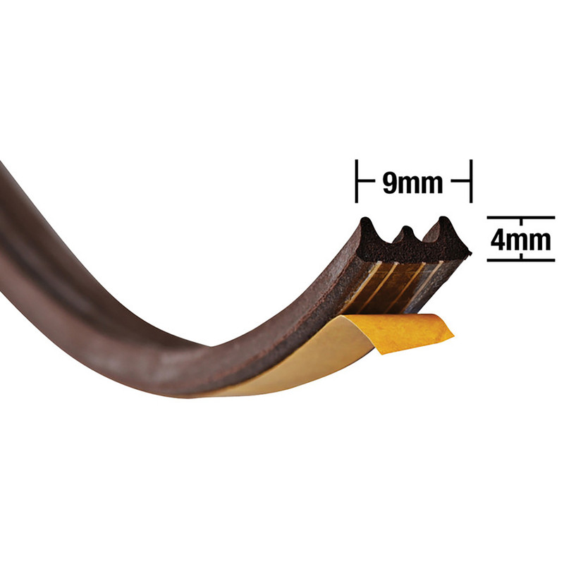 Stormguard Weatherstrip E Profile Brown