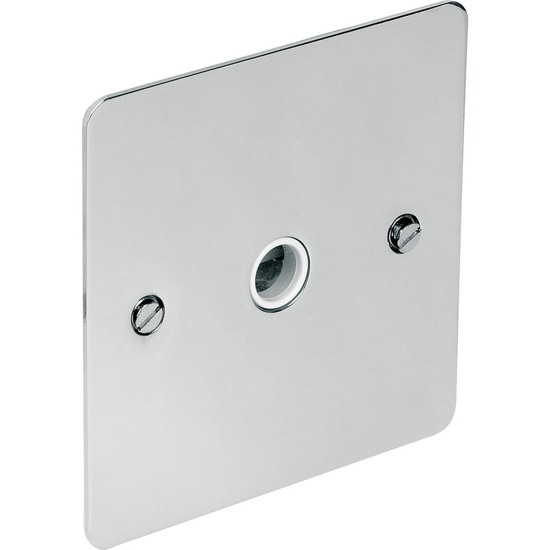 Flat Plate Polished Chrome 20A Flex Outlet Plate