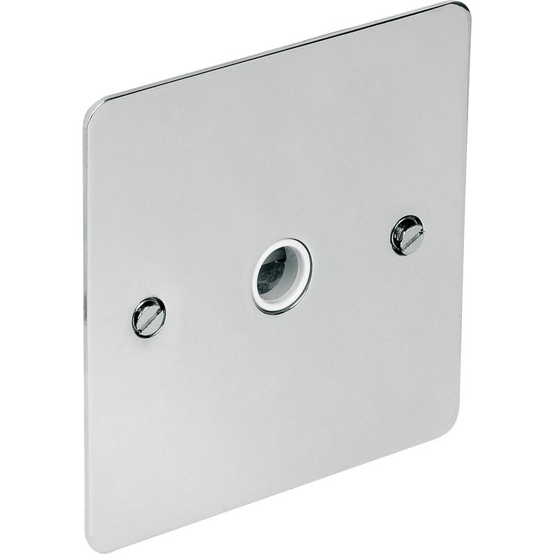 Flat Plate Polished Chrome 20a Flex Outlet Plate 20a