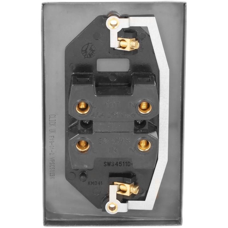 Click Deco Satin Chrome 45A DP Switch