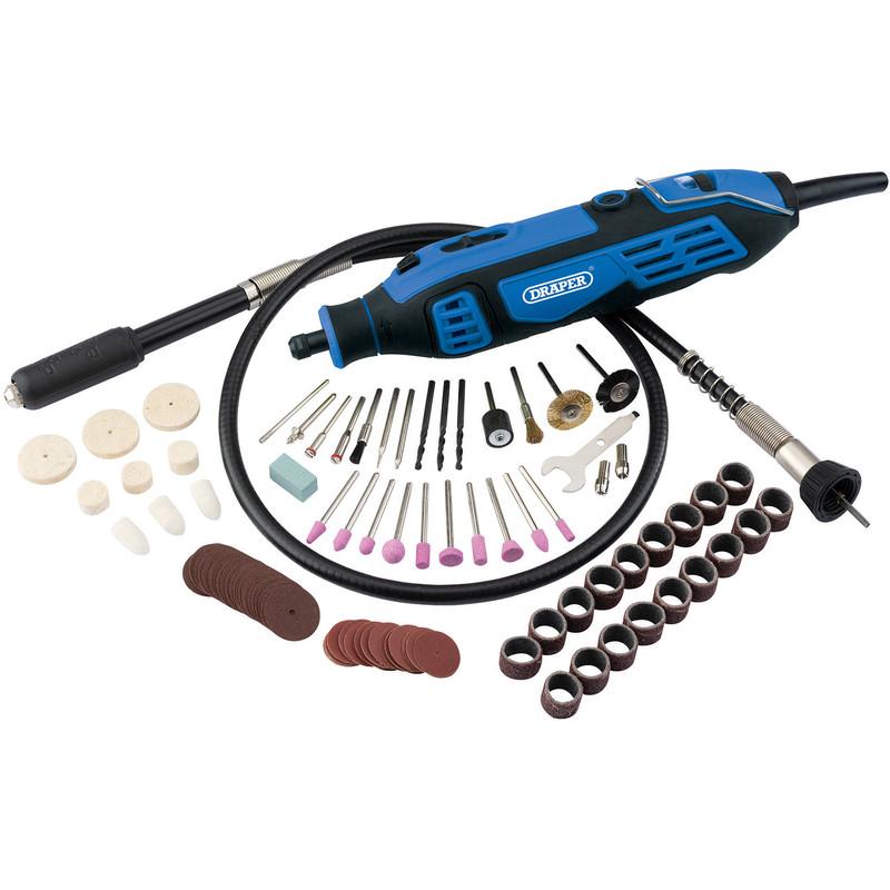 Draper 180W Rotary Multi Tool Kit (111 Piece)