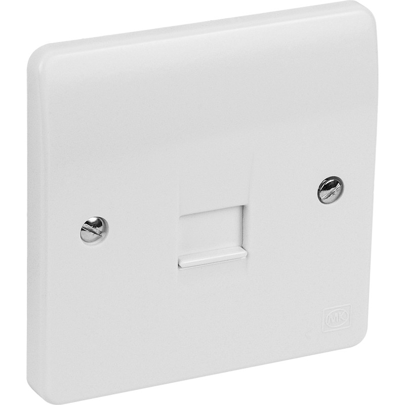 mk telephone socket 1 gang master rh toolstation com MK with Socket Light MK Socket Pricing