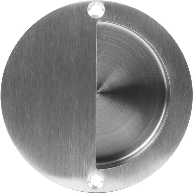 Satin Stainless Steel Circular Flush Pull Handle