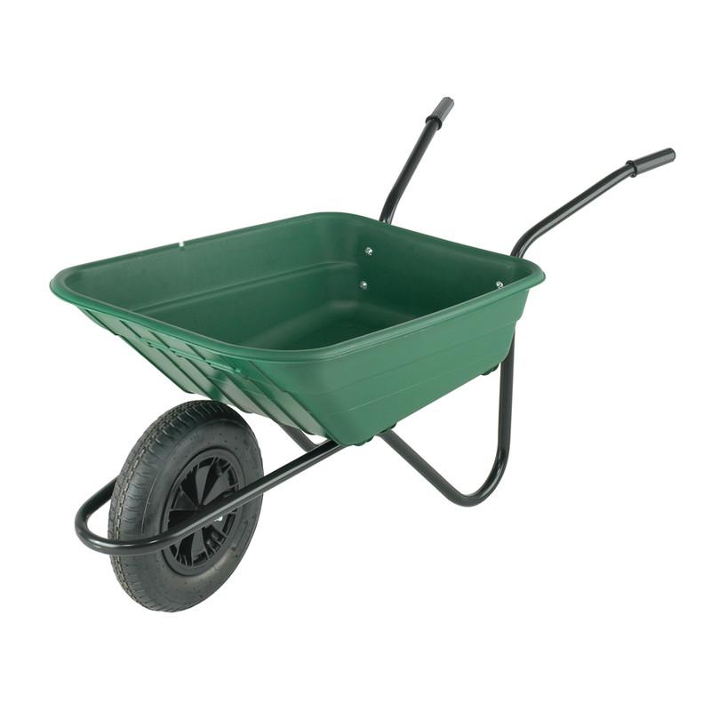 Polyproplyene Wheelbarrow with Pneumatic Wheel