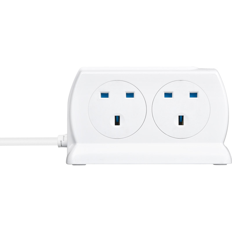 Masterplug 4 Socket Switched Compact Surge Extension Lead + 2 x USB