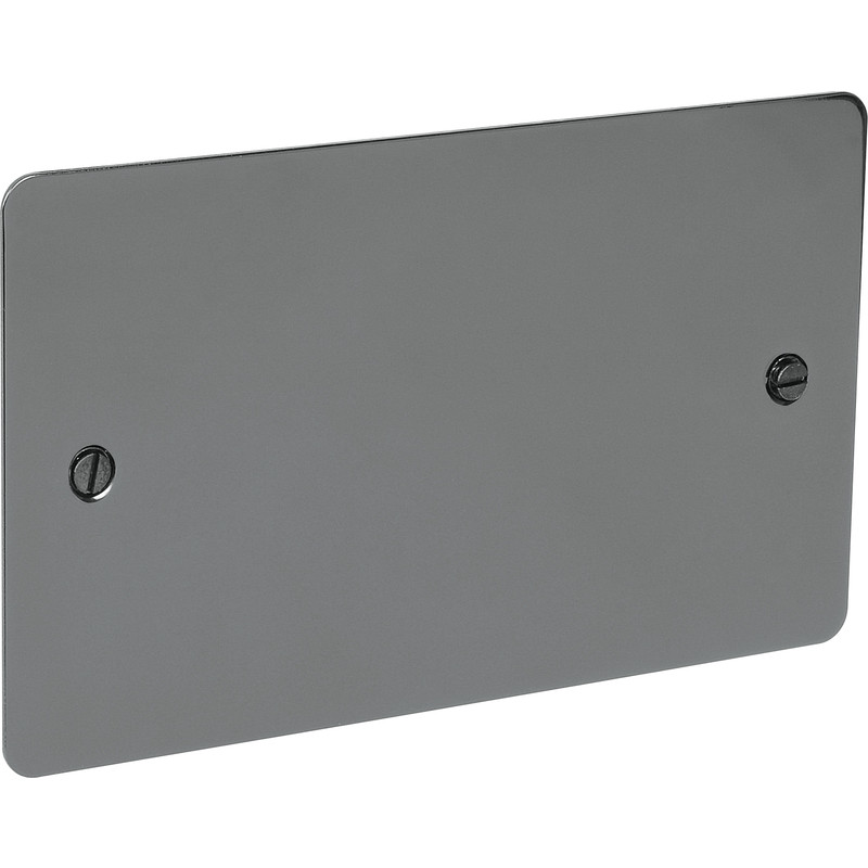 Flat Plate Black Nickel Blank Plate