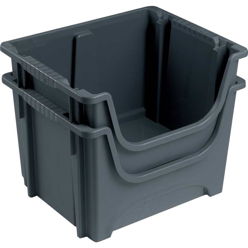Space Saving 50L Container Grey