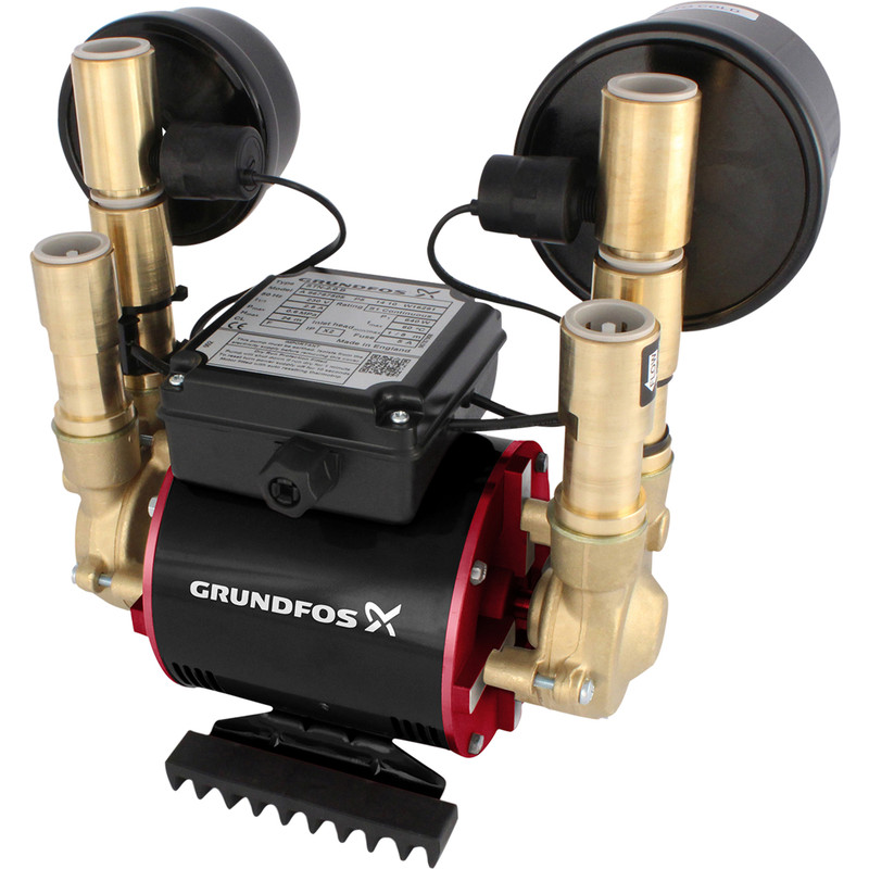 Grundfos Amazon STN Brass Twin Impller Negative Head Shower Pump