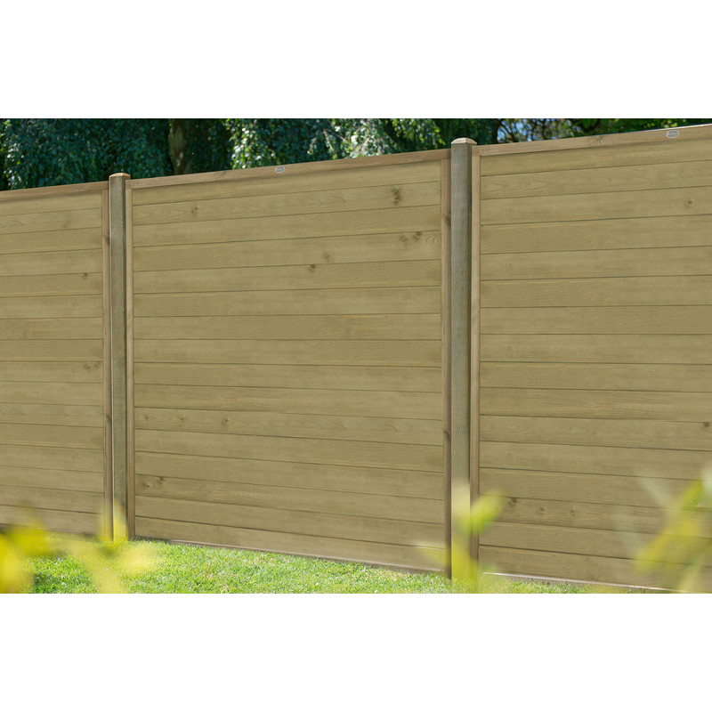 Forest Garden Pressure Treated Horizontal Tongue And Groove Fence Panel