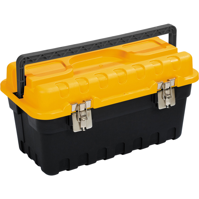 Olympia Metal Latch Toolbox with Tote Tray