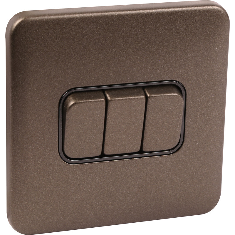 Schneider Lisse Mocha Bronze Screwless 10AX Switch