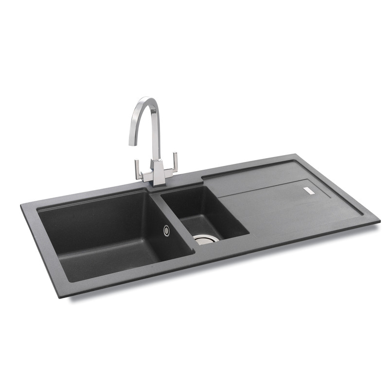 Carron Phoenix Bali Reversible Granite Composite Kitchen Sink & Drainer