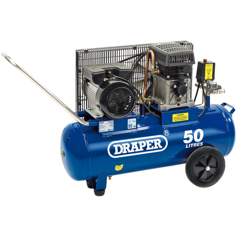 Draper 50L 2200W Belt-Driven Air Compressor