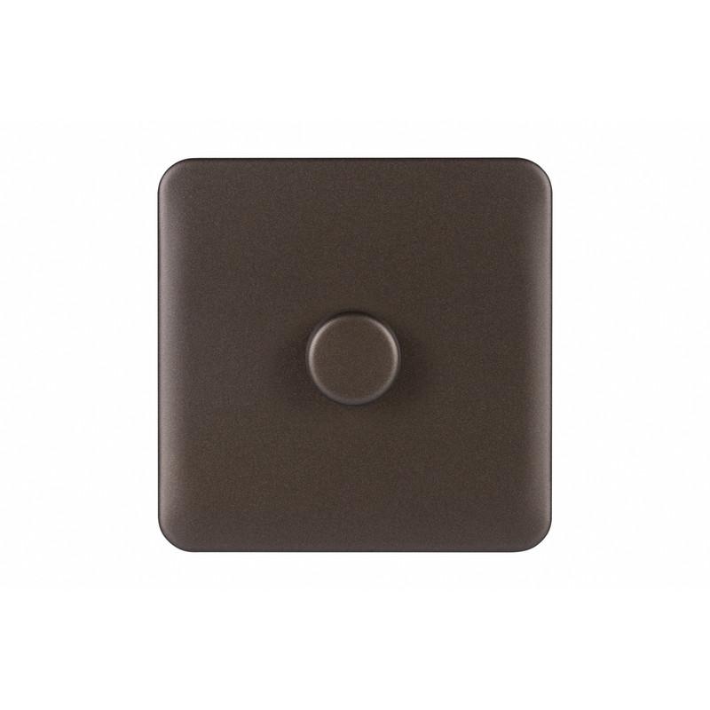 Schneider Electric Lisse Mocha Bronze Screwless Dimmer