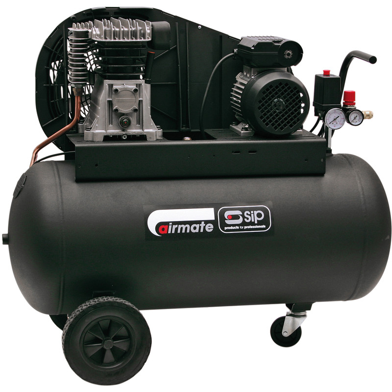 SIP 06260 Oil Lubricated Belt Drive 100L 3HP Compressor
