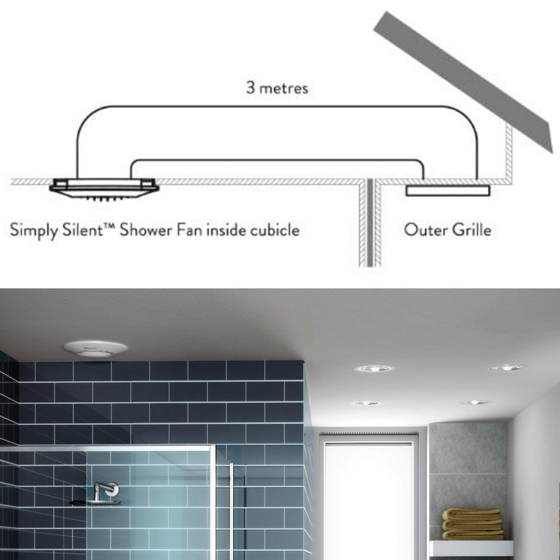 Xpelair Simply Silent 100mm Round Shower Extractor Fan
