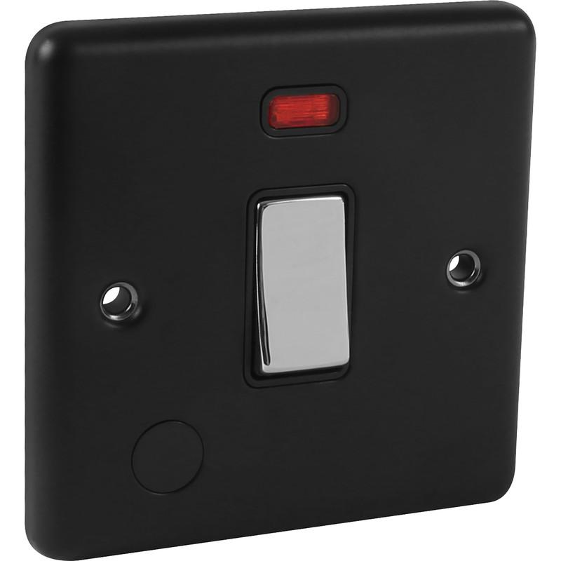 Wessex Matt Black 20A DP Switch