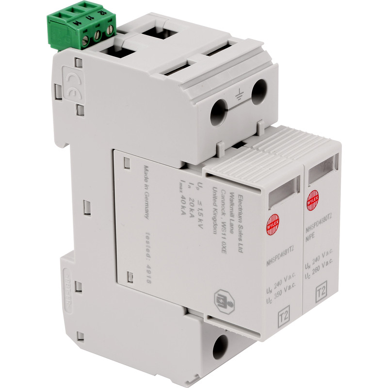 Wylex Type 2 SPDT2 Surge Arrester on