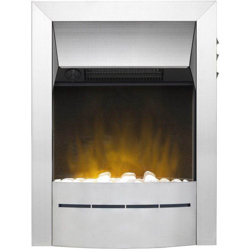 Dimplex Sevena Ecolite Stainless Steel Inset Electric Fire