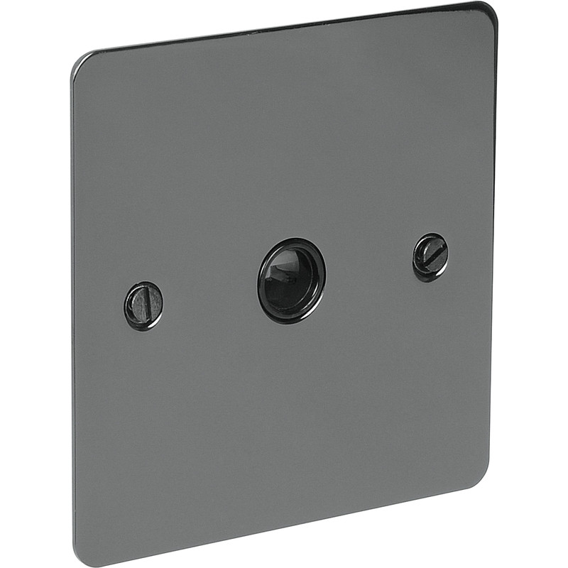 Flat Plate Black Nickel 20A Flex Outlet Plate