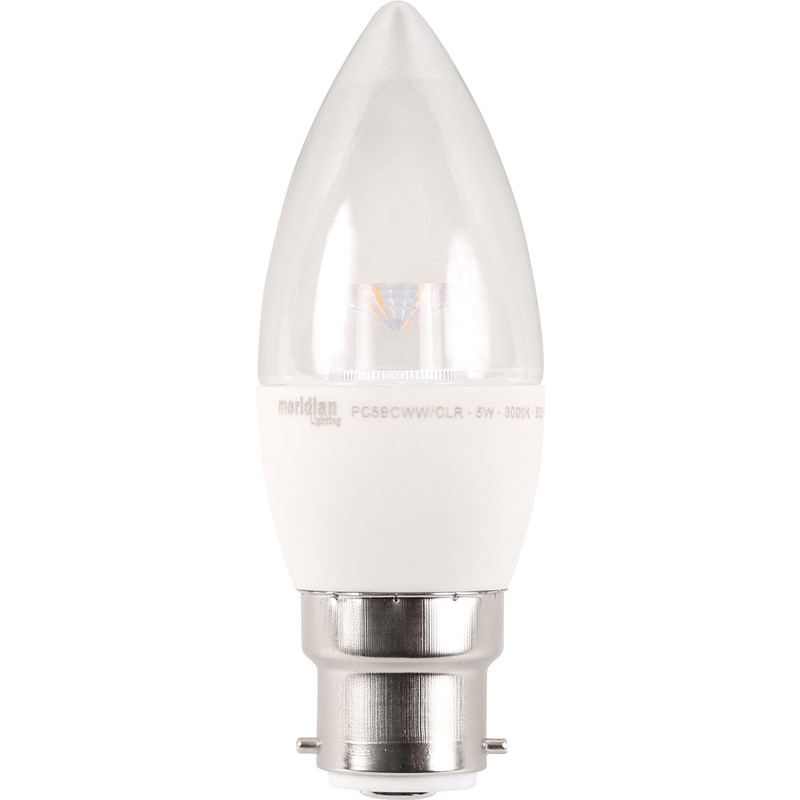 LED Clear Candle Lamp
