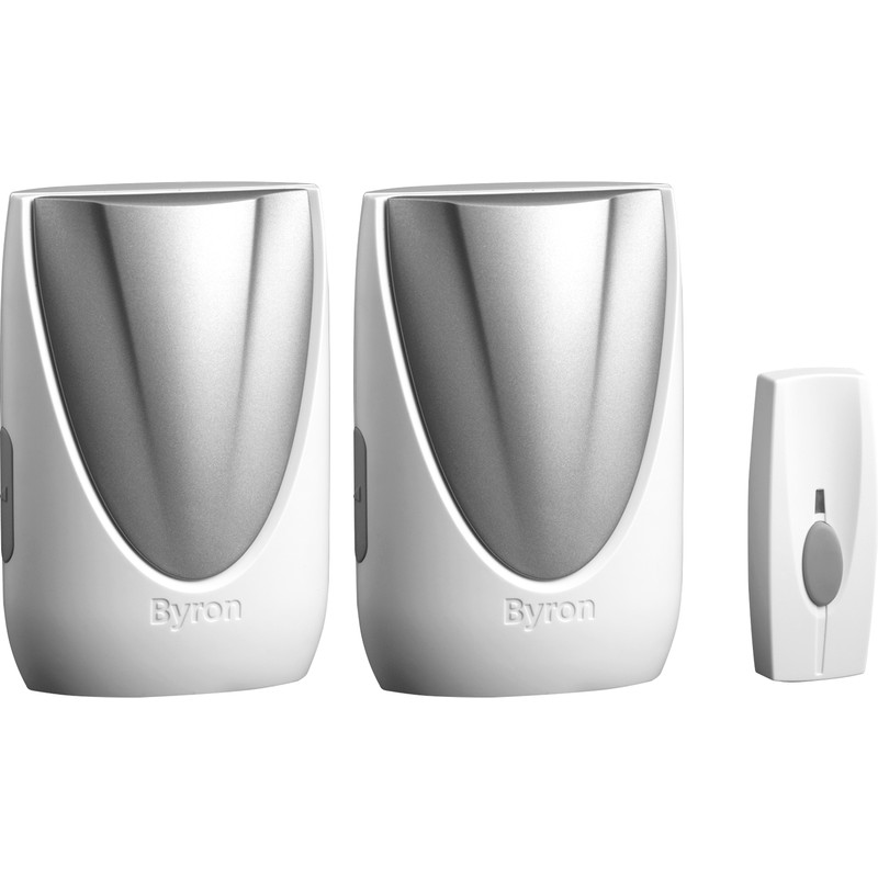 Byron Sentry Wireless Plug In Door Chime Twin Pack