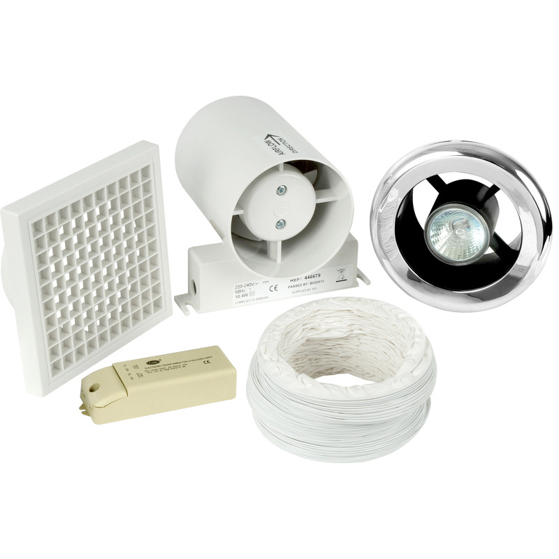 150mm part l inline shower extractor fan light kit with timer aloadofball Images