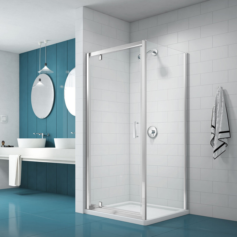 Merlyn NIX Pivot Shower Enclosure Door and Side Panel