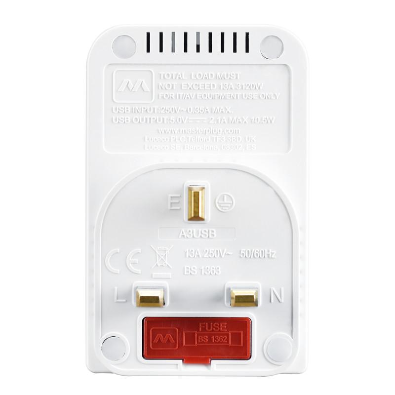Masterplug 3 Socket 13A Multisocket Adapter
