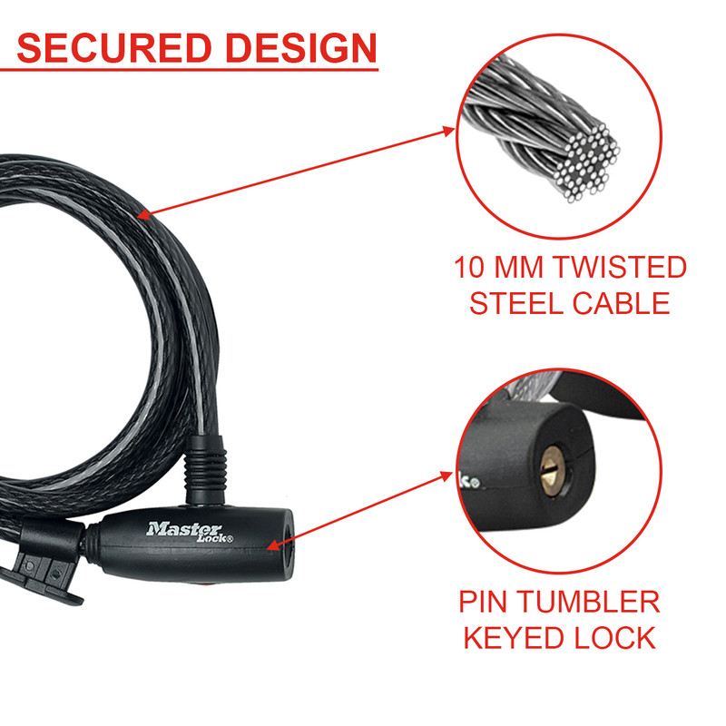 Master Lock Self Coiling Cable Lock