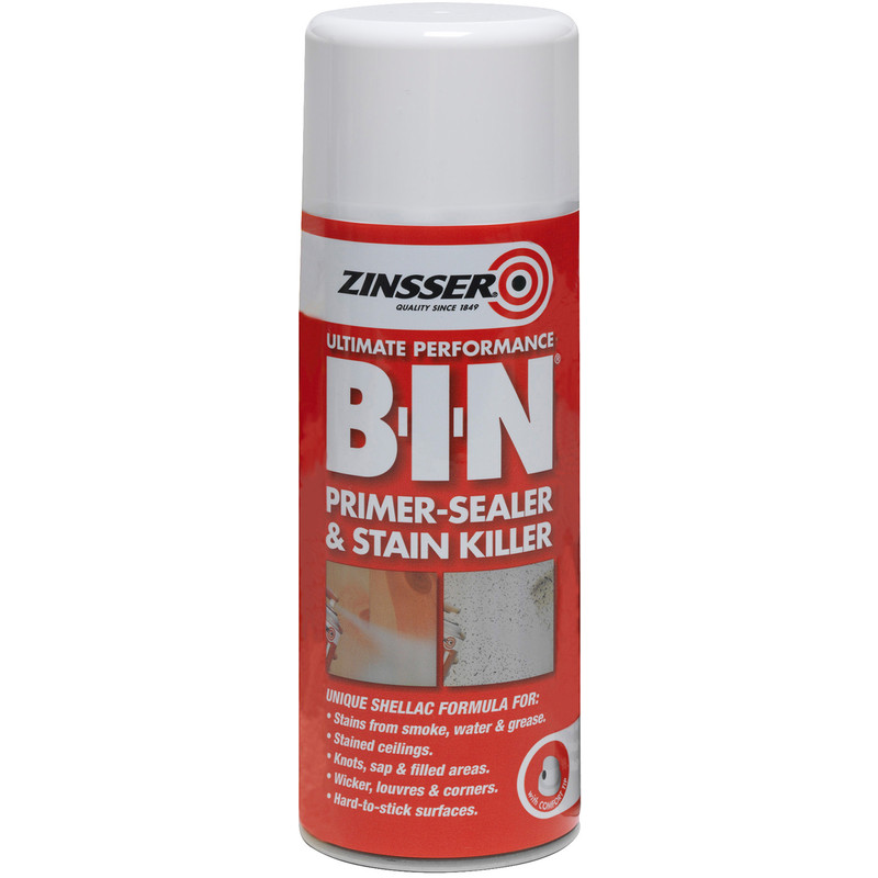 Zinsser B-I-N Primer Sealer Spray Paint