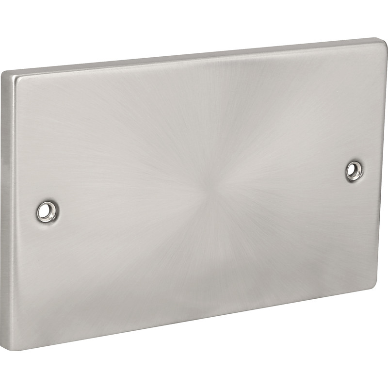 Click Deco Satin Chrome Blank Plate