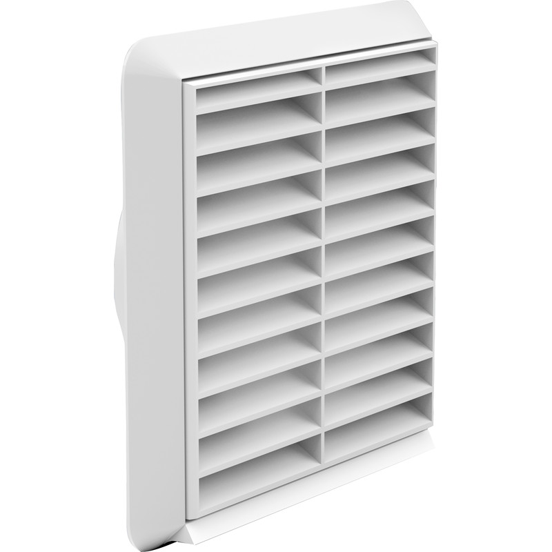 Square Ducting Louvred Grille 154 x 154mm