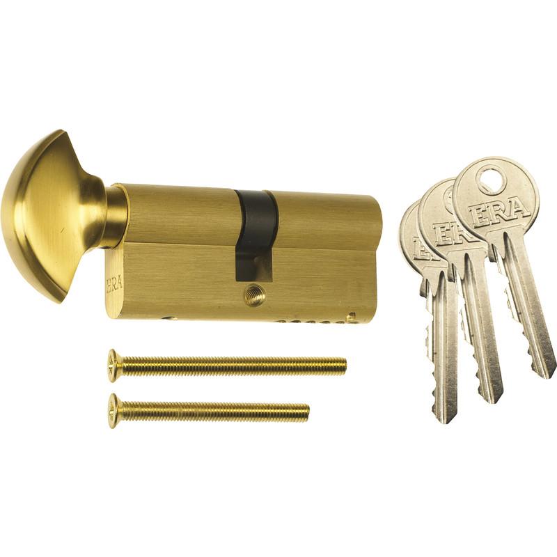 Thumb Turn Knob Euro Profile Cylinder Gold 35//35mm Thumb Cylinder