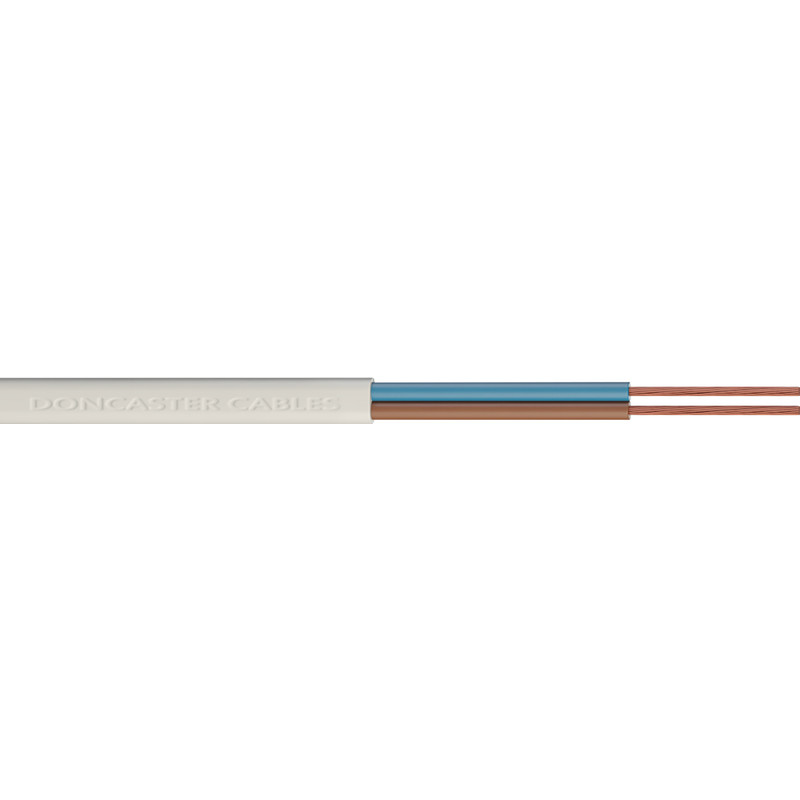 Doncaster Cables PVC 2 Core Flat Flex Cable (2192Y)