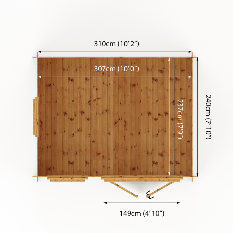 Mercia Log Cabin - 19mm