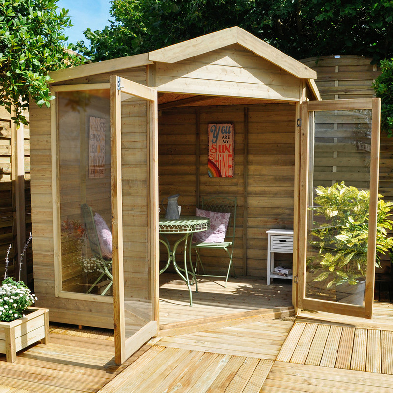 Forest Garden Shiplap Pressure Treated Corner Blockley Summerhouse
