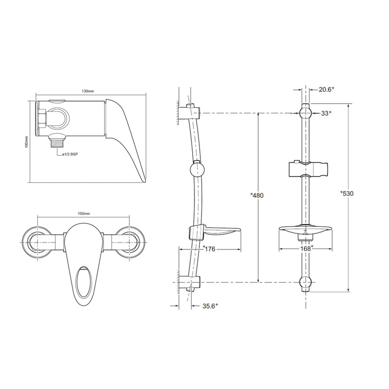Triton Lima Manual Mixer Shower